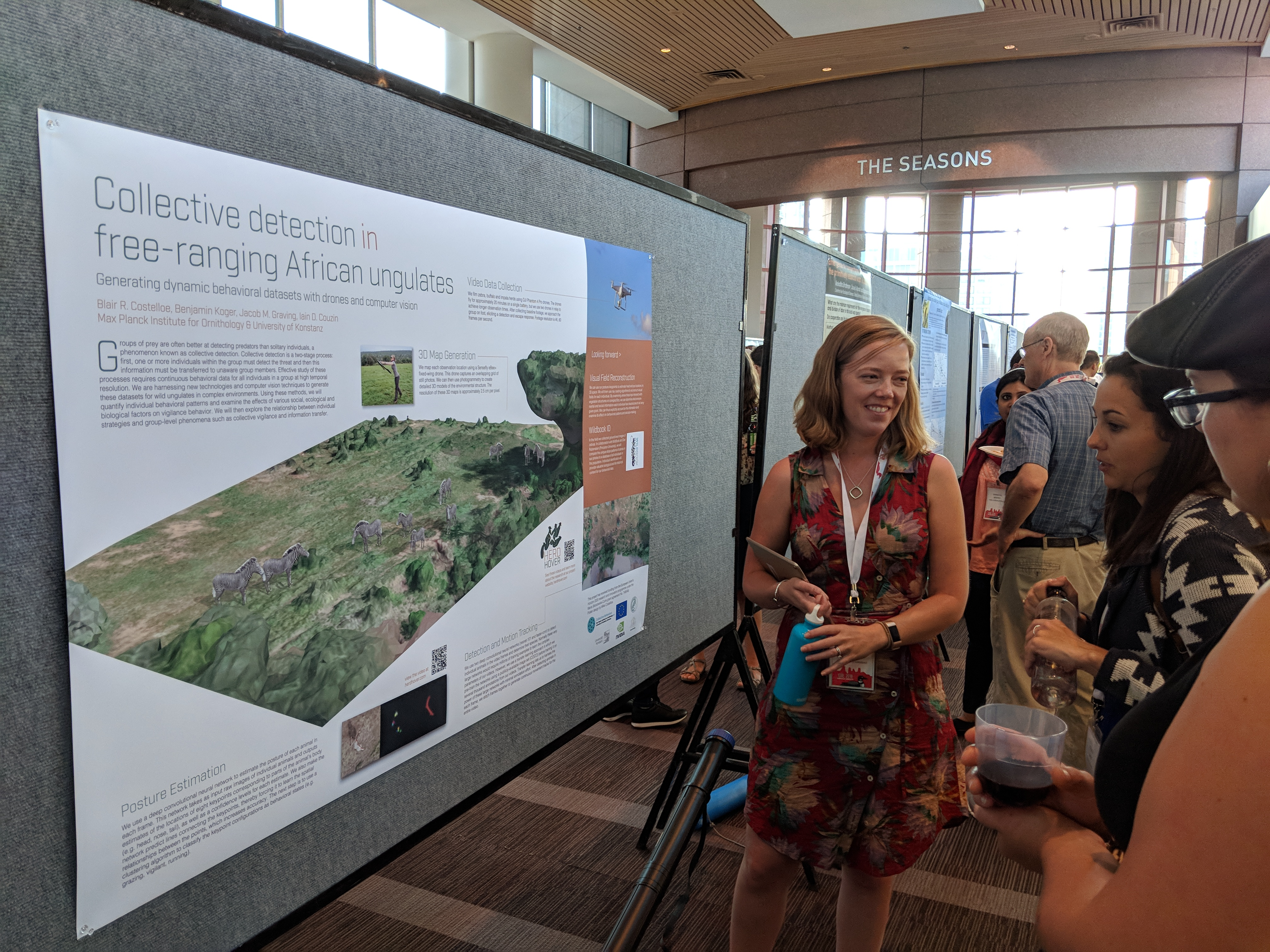 Blair presenting her poster at ISBE. Photo by Matt Grobis