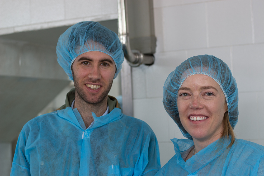 Ben and Blair on cheese tour