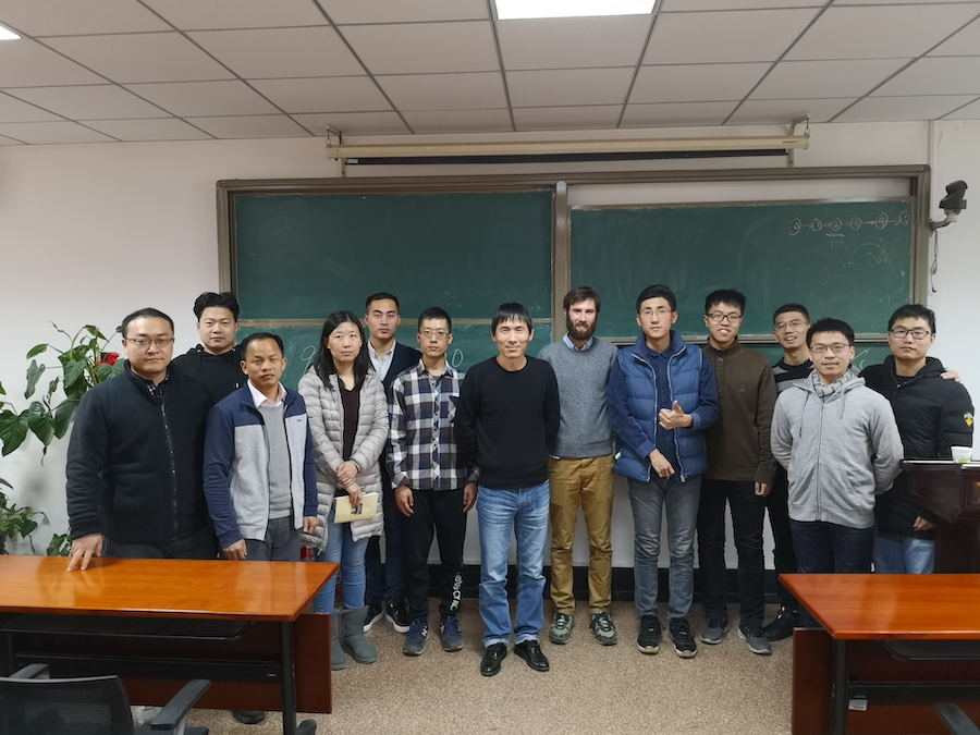Ben with members of the Intelligent Control Lab at Peking University
