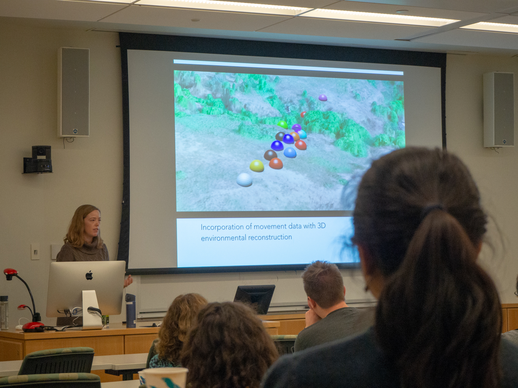 Blair giving her seminar to the EEES Department at Dartmouth College